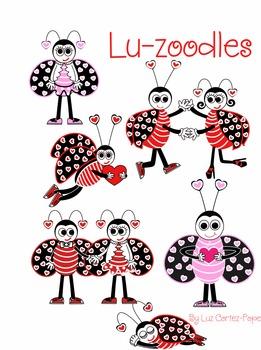 Valentine Lovebug Ladybugs-Clip Art Pack
