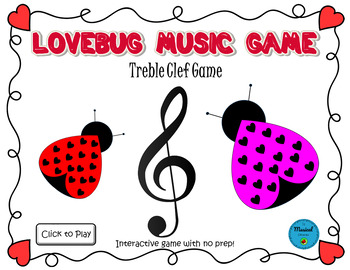 Lovebug Music Game: Treble Clef Notes
