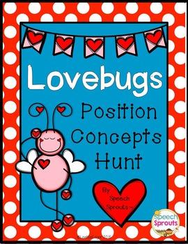 Valentine Speech Therapy: Lovebug Prepositions Hunt