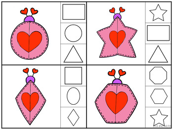 Lovebug Valentine Clip Card Activities for Toddlers, Preschool, and PreK