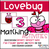Lovebug Valentines Matching Activities for Toddlers,  Pres