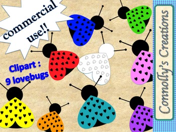 Lovebugs Clip Art for Commercial Use!