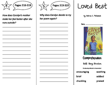 Loved Best Trifold - Storytown 3rd Grade Unit 3 Week 1