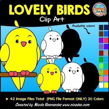 Lovely Birds Clip Art for Teachers