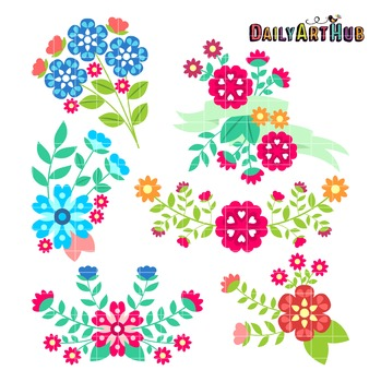 Lovely Bouquet Clip Art - Great for Art Class Projects!