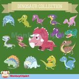 Lovely Dinosaur clip art set