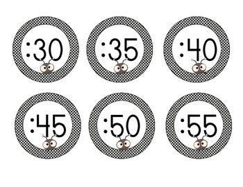 Lovely Ladybug Clock Numbers: Black Set