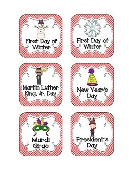 Lovely Ladybug Holiday Calendar Pieces