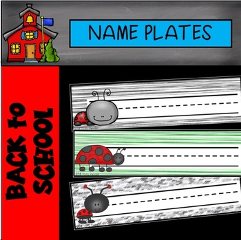 Editable Ladybug Name Plates