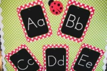 Classroom Decor Lovely Ladybugs Alphabet Letters - Print