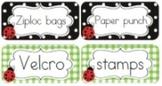 Classroom Decor Lovely Ladybugs Avery Sticky Labels - Print-Editable