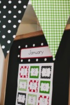 Classroom Decor Lovely Ladybugs Calendar Numbers - Print