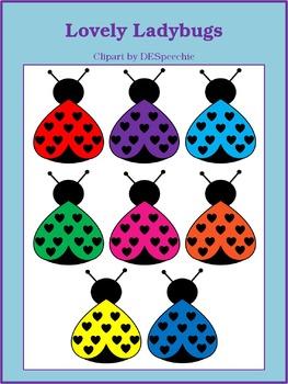 Lovely Ladybugs Clip Art