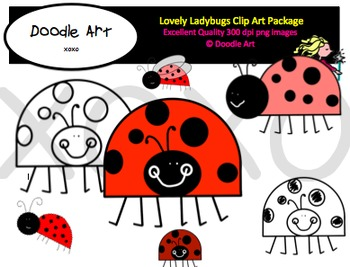 Lovely Ladybugs Clipart Pack