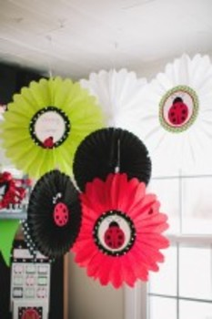 Classroom Decor Lovely Ladybugs Table & Center Signs - Print