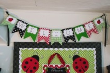 Classroom Decor Lovely Ladybugs Welcome Banner - Print