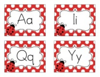 Classroom Decor Lovely Ladybugs Word Wall Labels - Print