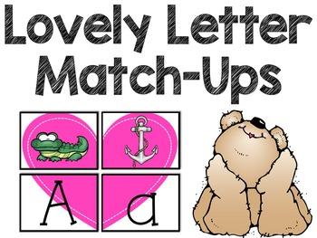 Lovely Letter Sound Match Ups (A Valentine's Day Puzzle Set)