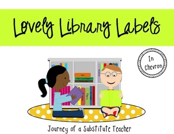 Library Labels {in chevron}