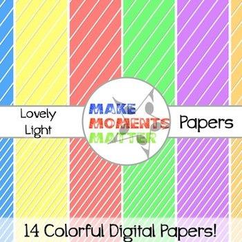 Lovely Light Stripes  --  A Digital Paper Pack!