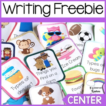 Writing Center Task Card Freebie