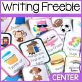 Writing Center Task Card Freebie