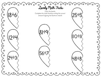 Lovely Math Facts Practice