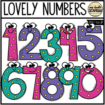 Lovely Numbers FREEBIE (Clip Art for Personal & Commercial Use)