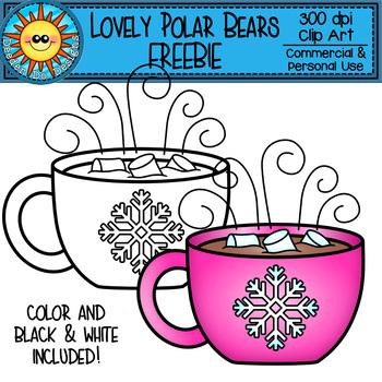 Lovely Polar Bear Clip Art