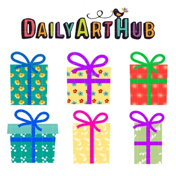Lovely Presents Clip Art - Great for Art Class Projects!