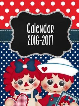 Lovely Raggedies 2016-17 Calendar
