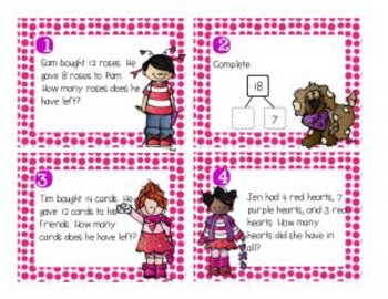 Lovely Task Cards {First Grade Math & Grammar}