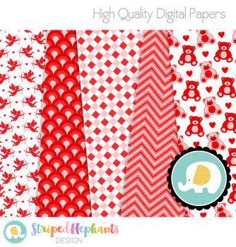 Lovely Valentine Digital Papers