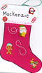 Lovely cardstock Christmas stocking to decorate with kids of any age