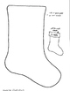 Lovely cardstock Christmas stocking to decorate with kids