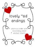 Lovely -ed ending phonics sliders