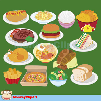 Lovely food clip-art set