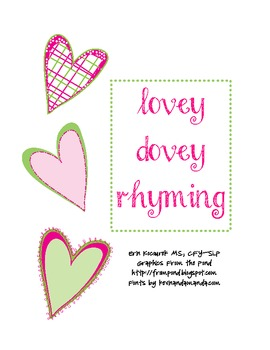 Lovey Dovey Valentine's Day Rhyming