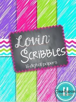 Lovin' Scribbles Digital Paper
