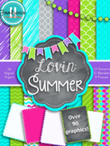 Lovin' Summer- Papers, Frames, Banners, and Borders