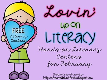 Lovin' Up on Literacy {FREE Literacy Centers for February}