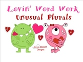 Lovin' Word Work Unusual Plurals SMART Board