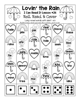 Lovin' the Rain - I Can Read It! Roll, Read, and Cover (Lesson 24)