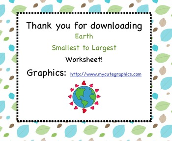 Loving Earth - From Smallest to Largest