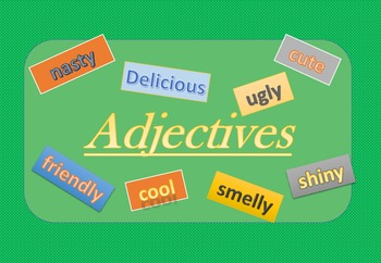 Adjective Posters: Classroom display