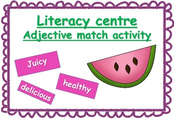 Adjective boards: Literacy group activity