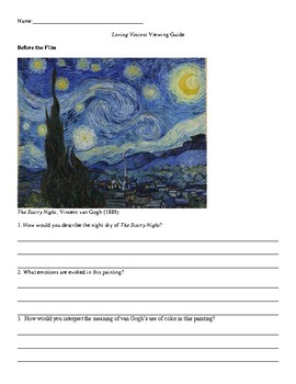 Loving Vincent Viewing Guide (Vincent van Gogh Animated Film)