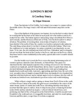 Loving's Bend - A Cowboy Story