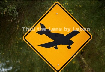 Low Flying Airplane Sign Stock Photo #119