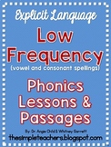 Low Frequency Phonics Lessons and Decodable Passages